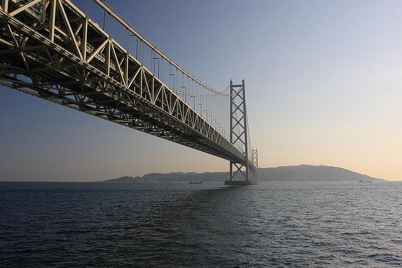 concreto autoadensável na ponte Akashi-Kaikyo